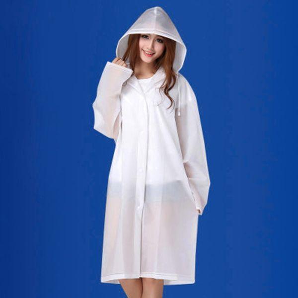 PVC Raincoat Women Nylon Long Poncho Waterproof Women's Jackets Rain Coat Men Cover Regenjas Ladies Raincoats With Hood 50CW203 #219927