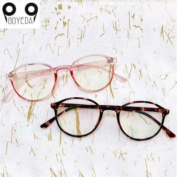 BOYEDA Fashion Vintage Round Glasses High Quality Optical Glasses Frame Transparent Eyeglasses Goggles Nerd Spectacles Unisex