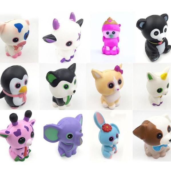 Karikatur-Tier Squishy langsam steigende duftende Kinder Stressabbau Squeeze Toy Ty Beanie Boos Unicorn Elefant squishy KKA6439
