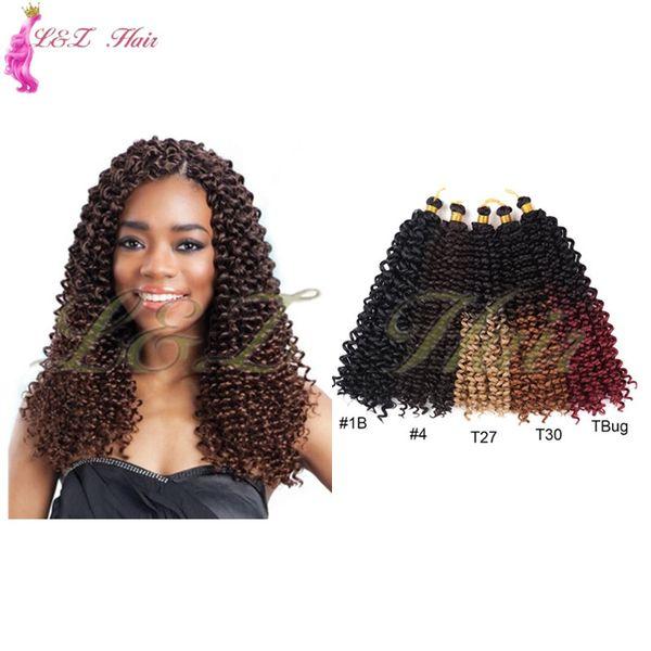 14 zoll Ombre Wasser Wellenförmige Häkeln Synthetische Crotchet 1 paket / los 14 zoll Wasser Welle Haarverlängerungen Synthetische flechten Haar