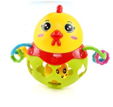 Baby Teethers Toys suzakoo Baby rattle with bead and ball cartoon animal pattern hand grasping bell