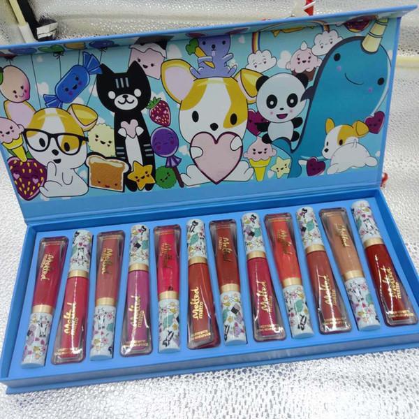 Newest Waterproof Melted matte Lip Gloss set cartoon YAAASS!! long-lasting liquid lipsticks cosmetics 12 colors drop shipping lips makeup