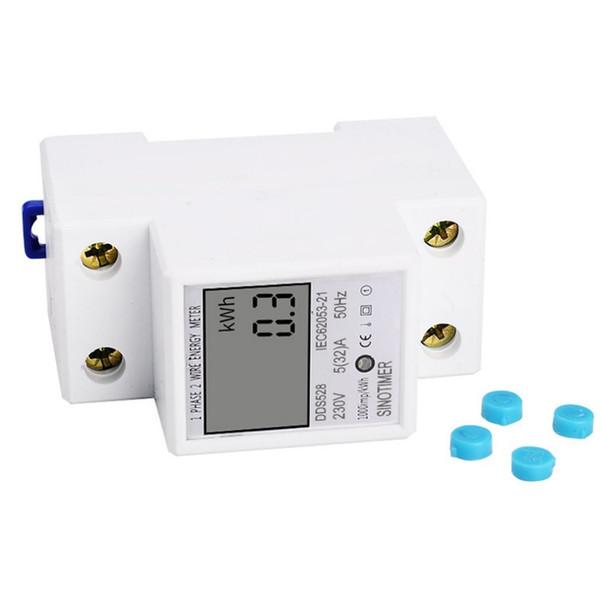 SINOTIMER Consommation d'énergie Watt Amp Voltmètre Analyseur KWh AC 230V numérique Electricité Contrôle de l'utilisation Wattmètre