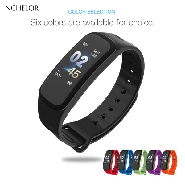 NEW Super digital watch Color screen Breathable silicone strap Heart rate Pedometer Fitness Wearable men digital watch woman