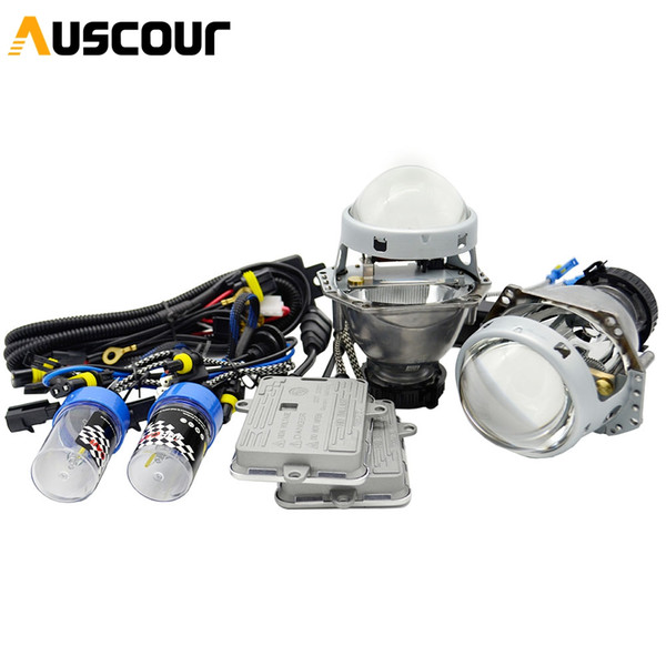 3.0inch hella5 car Bi xenon hid Projector lens 55w 6000K AC xenon kit ballast D2H bulb conversion kit car assembly Modify