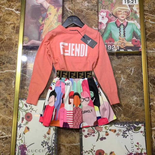 işlemeli yaka kısa kollu pamuklu pileli etek elbise çocuk elbise çocuk butik clothing121118 2020 Perakende kız bebek elbiseleri