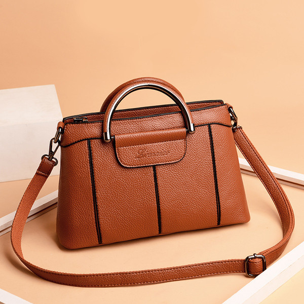 Lucky2019 Lucky2019 Bag Pattern Pop Single Shoulder Satchel Joker Soft Leather Portable Will Capacity Woman Package