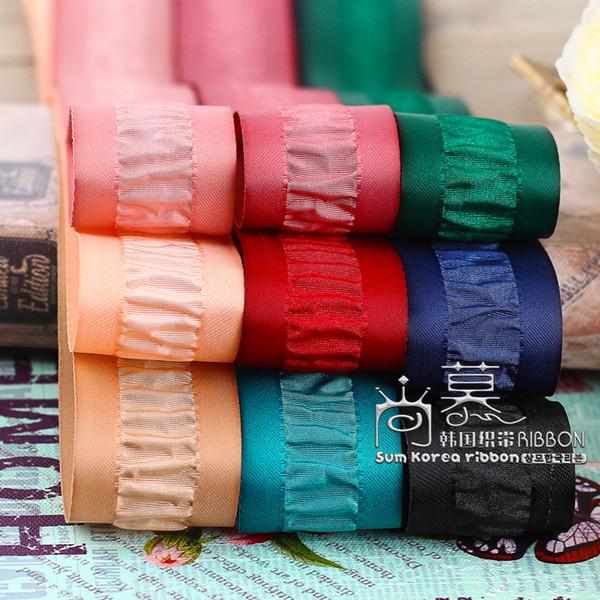 50yards 25 mm ruban antirides bord de satin pour les accessoires de mode sous-vêtements soutien-gorge jupe vêtements de vêtement fournitures d'artisanat arc cheveux