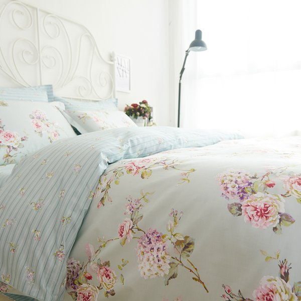 Romantic American Country Style Vintage Floral Bedroom Set,Designer Shabby  Girls Bedding Set,Modern Flowers Jacquard Bed Cover Black And White Bedding  ...
