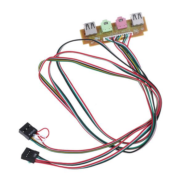 60 cm 2 USB 2.0 Ports PC Computer Case Front Panel Audio Port Mic Earphone Cable