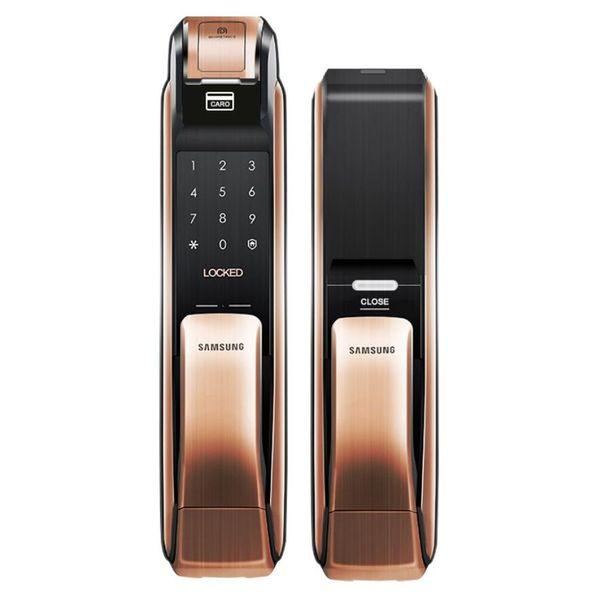 best selling SAMSUNG SHP-DP728 Keyless BlueTooth Fingerprint PUSH PULL Two Way Digital Door Lock English Version Big Mortise