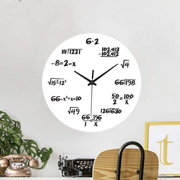 Creative Engineering Math Formula Round Electronic Wall Clock Living Room  Office Quartz Mute Alarm Clock 024 Contemporary Clocks Contemporary Clocks