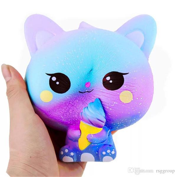 Squishy Squishy Rainbow Fidget Cake Dog Bear chat renard panda mouche cheval squishies de manchots citron lente montée douce Squeeze mignon jouet de décompression