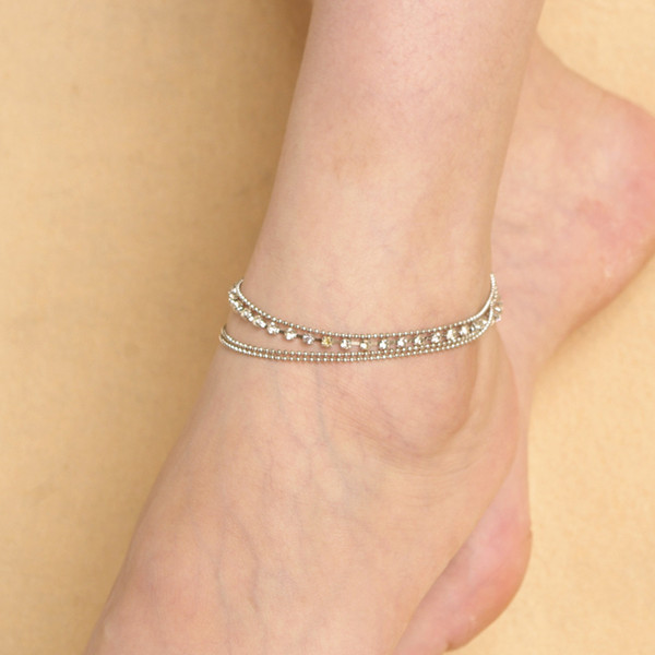 Rhinestone Dating Sparkling DIY Jewelry Accessories Gift Shopping Multi Layer Fashion Dressing Women Anklet