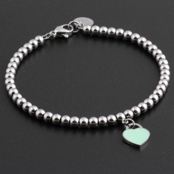 Großhandelsheiße berühmte Marken-Titanstahl-Armbänder klassisches Schmucksache-Herz-Armband für Frauen-Charme bördelt Armband pulseiras Schmucksachen