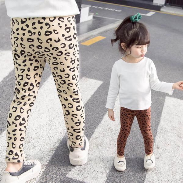 New leopard print girls leggings Kids Leggings cotton kids designer clothes girls tights skinny pants girls trousers kids clothes A7225