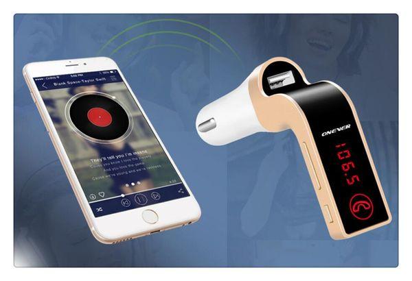4 В 1 G7 Автомобильный Беспроводной Bluetooth MP3 FM-передатчик Дизайн Модулятор 2.1A Автомобильное Зарядное Устройство Беспроводной Комплект Поддержка Hands-Free Micro SD TF