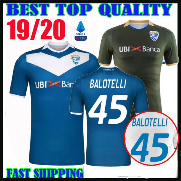19 20 Brescia Calcio # 45 SOCCER MAILLOTS Balotelli 2019 2020 maison loin maglie Magnani Tonali Donnarumma Ayé maglietta chemise Morosini de football