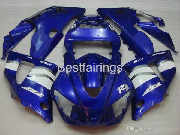 ZXMOTOR Hot sale fairing kit for YAMAHA R1 1998 1999 blue white fairings YZF R1 98 99 DF36