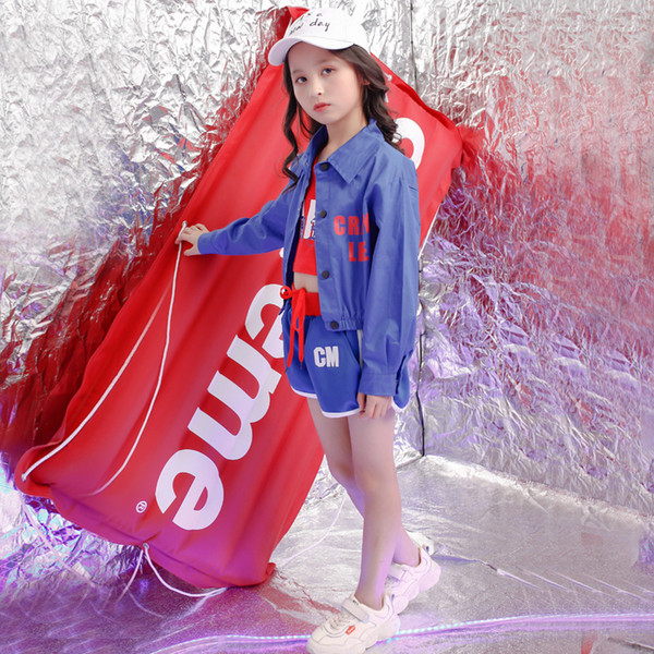 Kids Hip Hop Costumes for Girls Fashion Jazz Ballroom Dance Clothes Performance Dancewear Stage Dancing Costume Suits Outfits