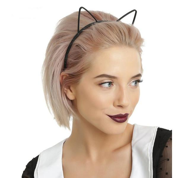 enfants noir chat oreilles bandeaux mode Lady Girl Bandeau Sexy Self Bandeau Bébé fête d'anniversaire Cheveux Accessoires pour Femmes cerceau C19011601
