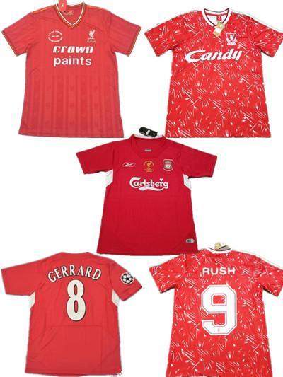Paul Walsh Gerrard 1985 1986 RETRO camisa de futebol 2005 2006 Crouch Morientes 85 86 04 05 89 91 camisa de futebol 1989 1991 classic vintage