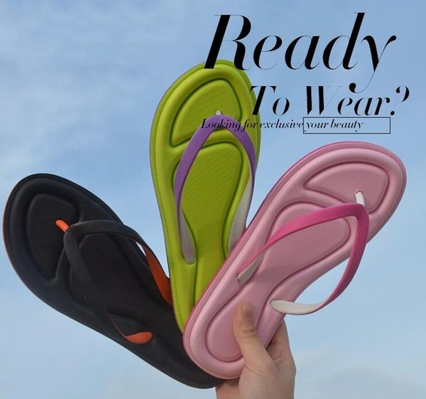 The Most Popular Ladies Cute Slippers Summer Student Candy Color High Elastic Slippers Girls Fashion Sweet Beach Flip-flops Free Shipping