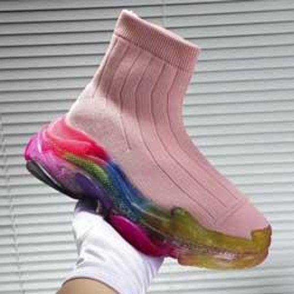 2020 Yeni Gelenler 2019 marka Kadınlar Sarı çorap ayakkabı, Marka Platformu spor ayakkabıları, Tasarımcı Bilek Boot Nedensel Baba Ayakkabı 35-45 ücretsiz kargo