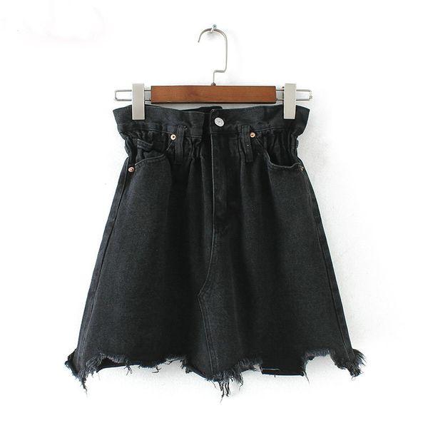 new styles b34f2 90647 Acquista Le Donne Gonne In Denim Elastico A Vita Alta Tasche Gonna Di Jeans  Gonna Alta Gonna Nera Dei Jeans A $20.11 Dal Brotherflagship | DHgate.Com
