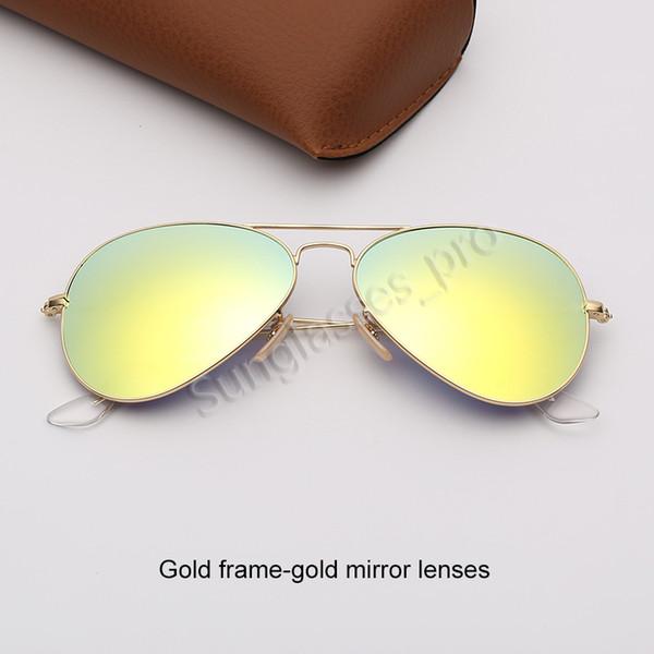 Altın çerçeve-altın ayna lensleri
