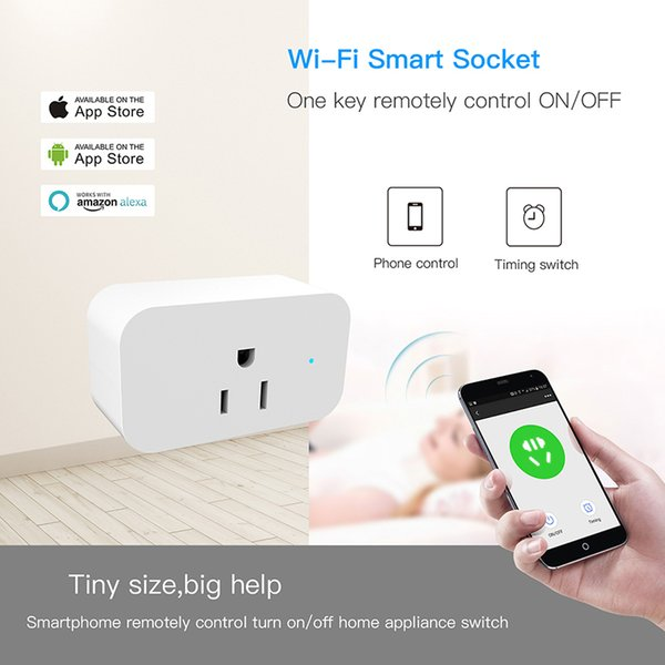 Smart Wifi Sockets Interruttore wireless Round US Plugs APP Presa di controllo remoto Interruttore di sincronizzazione per smartphone Android IOS Alta qualità