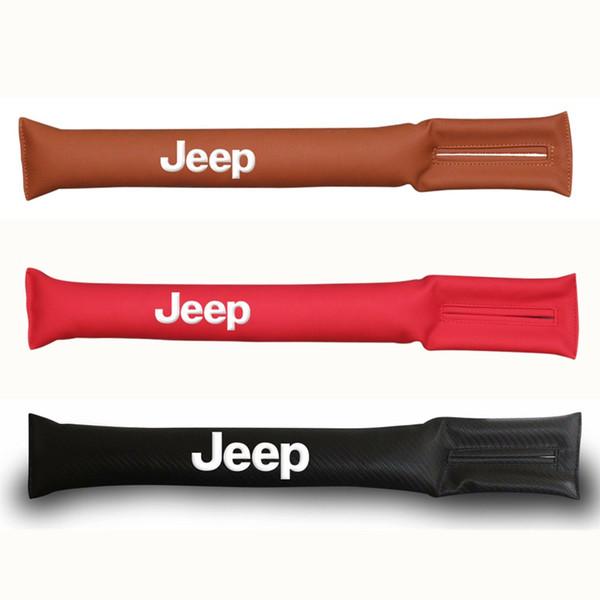 Car Styling Seat Slot Plug Stopper Gap Filler Spacer Padding For Jeep Renegade Cherokee Wrangler Compass Patriot Santafe i20 i30 Sticker