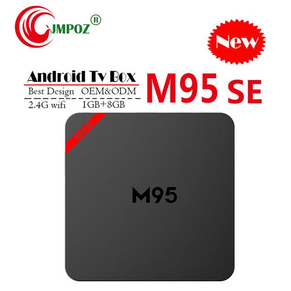 1 PCS M95 SE Android 7.1 TV Caixa Allwinner H3 Quad Núcleo 1 GB 8 GB 2 GB 16 GB 4 K H.265 2.4 G wifi 1080 P players de mídia PK S905X2 RK3328 A95X A5X T9