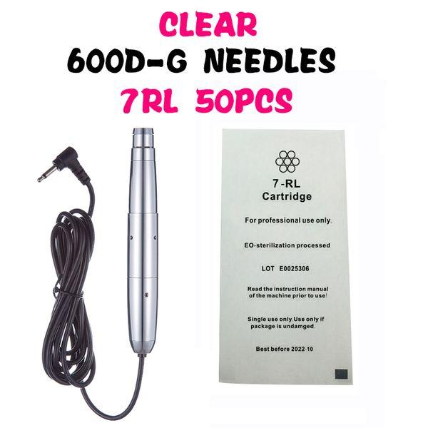 600D-G 7RL Clear Permanent Makeup Machine Needles for Nou Rotary Tattoo Machine Needles