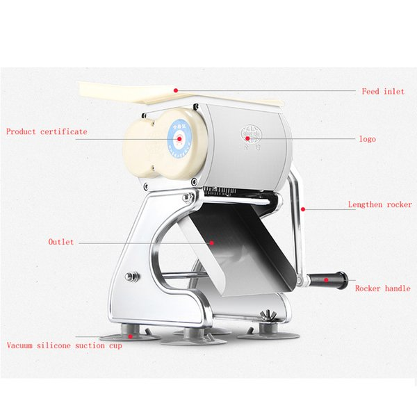 Commercial Stainless Steel blade manual Meat Cutting Machine Tool Cutter Slicer Home Meat Grinder Dicing Machine New