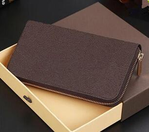 Free shipping! Fashion designer clutch Genuine leather wallet with box 60015 60017