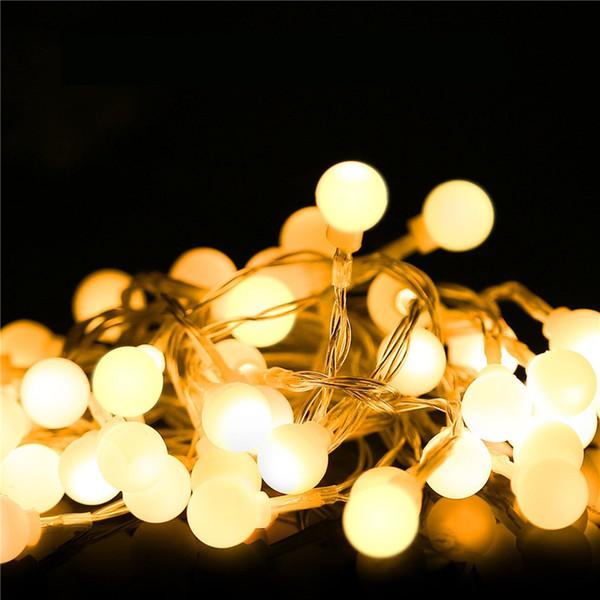 1,5 m 3 m 6 m ghirlanda di luci a LED ghirlanda di luci a sfera impermeabili per l'albero di natale decorazione domestica per interni bianco a batteria bianco caldo