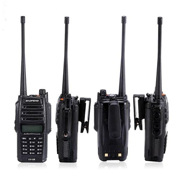 2 adet BAOFENG UV-9R ARTı 15 W Su Geçirmez Walkie Talkie 10 W Taşınabilir CB Radyo UV HF Telsiz