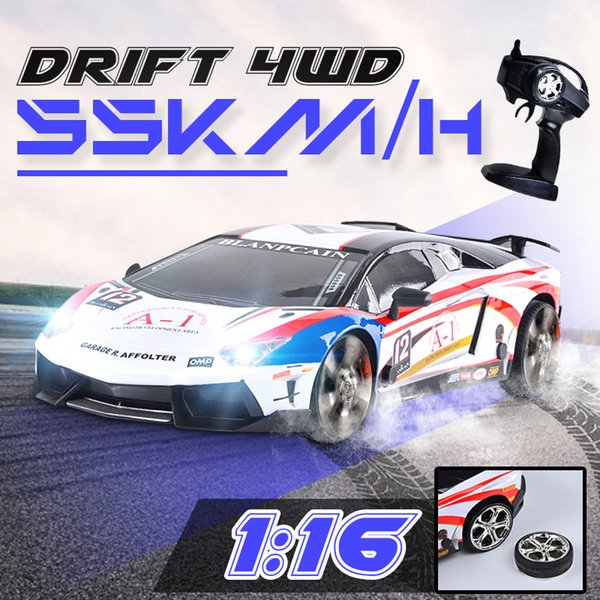 1:16 2.4G RC 4WD Car High Speed Drive Drift Racing USB Charging Remote Control Vehicle Electronic RC Car Hobby Toys for Children