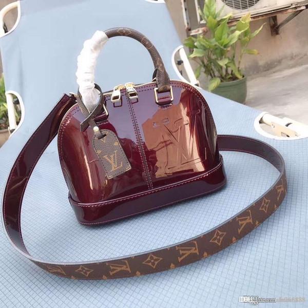 Модный новый Lady s ручная роспись оболочки сумка дизайнер пакет вино красный, черный, розовый, персиковый, светло-розовый номер: M54785.