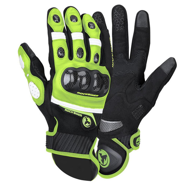 MEN Breathable Gloves The Motorcycle Cycling Protective Summer Corbon Fiber Gloves Motocross Motorbike Racing XXL