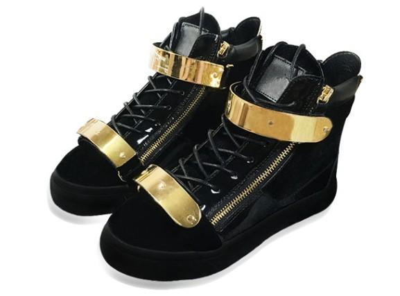 Nouveau designer italien baskets femmes chaussures de sport en cuir véritable Lace-Up les hauts hauts marron double fermeture à glissière décoratif