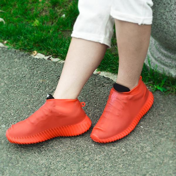 Erkek Kadın Ayakkabı Aksesuarları Koruyucu Kalın Sole Silikon Seyahat Açık Ayakkabı Kapağı Kaymaz Ayak Giymek Dayanıklı Kullanımlık