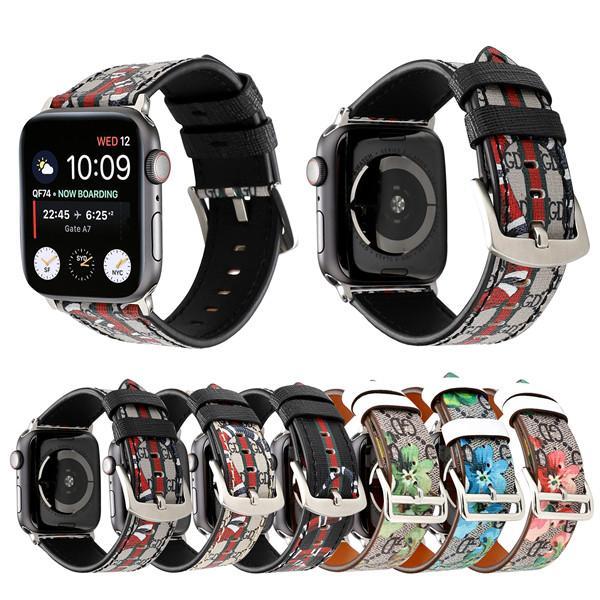 Для Apple Watch 4 3 2 1 Ремешки Ремешки Роскошные Натуральные Кожаные Ремешки Ремешок 38 / 42мм 40 / 44мм Браслеты
