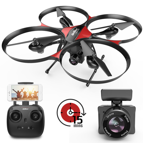 DROCON Drone for Beginners, WIFI FPV Drone With 720P 120°Wide-Angle Camera, 15 Min Flight Time, 4GB TF Card Included, Altitude Hold,