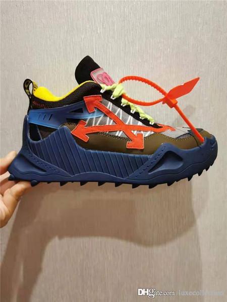 luxecollection / Mais recente lançamento Novo estilo no outono e inverno casal estilo papai sapatos Grinded couro, tênis de malha respirável Com caixa