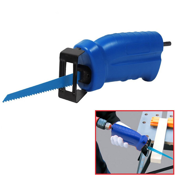 top popular Reciprocating Saw Metal Cutting Wood Cutting Tool Electric Drill Attachment Coming with 3 Blades Power Tool Accessories DEC524 2021