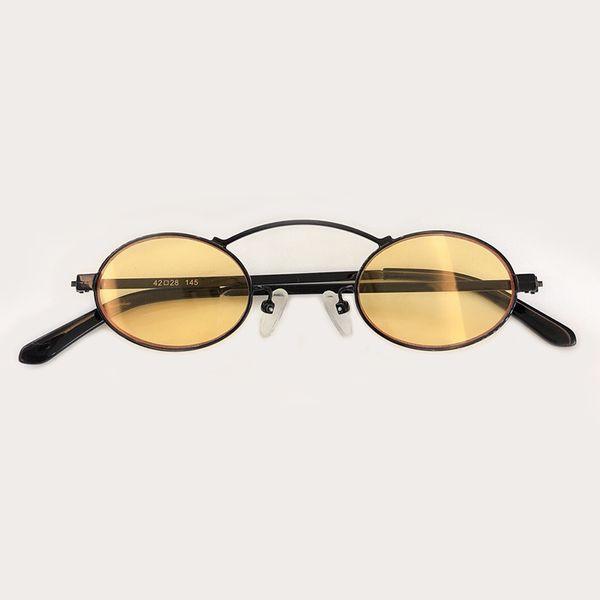 New Oval Sunglasses Women 2019 Designer Alloy Small Frame Sunglasses Top Fashion Shades Mirror