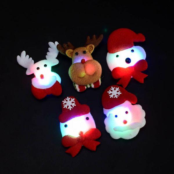 Headband do natal Light Up Hat Óculos Caneta Broche Acessórios Decoração Para Festa HYD88
