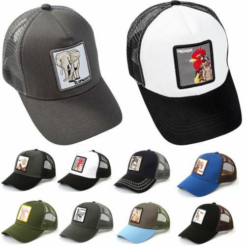 Meihuida 2019 Бейсбольные кепки с вышивкой для животных Bros Animal Farm Дальнобойщик Глаз бейсбольной кепки льва